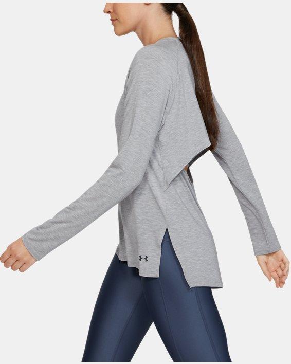 Women's UA Modal Long Sleeve, Gray, pdpMainDesktop image number 3