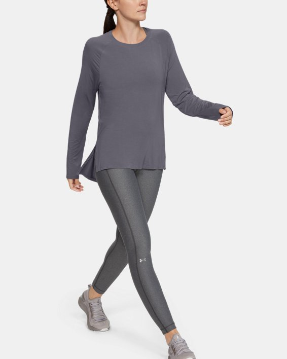 Women's UA Modal Long Sleeve, Gray, pdpMainDesktop image number 0