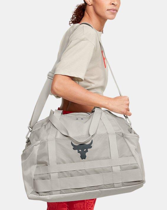 Women's Project Rock Gym Bag, White, pdpMainDesktop image number 0