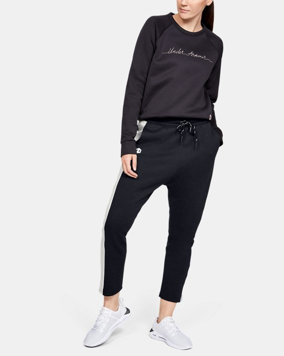 Women's UA RECOVER™ Fleece Pants, Black, pdpMainDesktop image number 1
