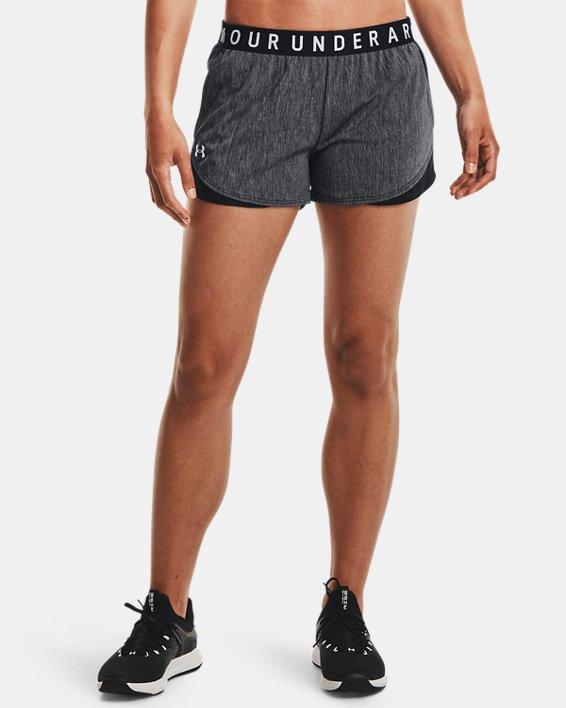 Women's UA Play Up Shorts 3.0 Twist, Black, pdpMainDesktop image number 2