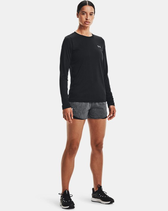 Women's UA Play Up Shorts 3.0 Twist, Black, pdpMainDesktop image number 1