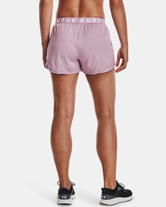 Women's UA Play Up Shorts 3.0 Twist, Pink, pdpMainDesktop image number 2