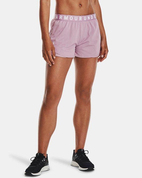 Women's UA Play Up Shorts 3.0 Twist, Pink, pdpMainDesktop image number 1