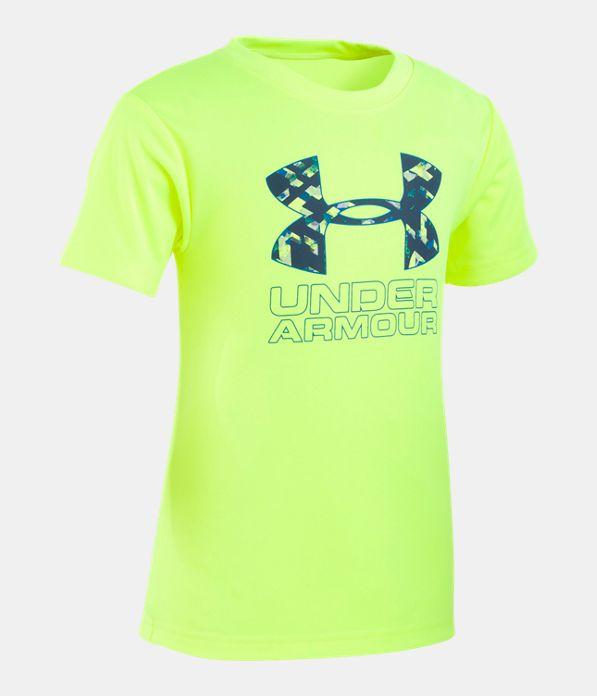 1105e1c3c6 Boys' Toddler UA Knockout Multi Big Logo Short Sleeve