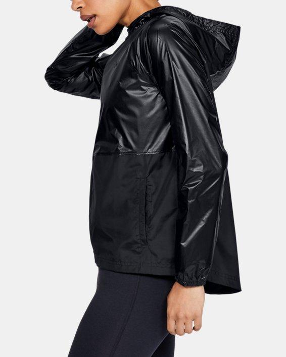 Women's UA Metallic Woven Full Zip, Black, pdpMainDesktop image number 3
