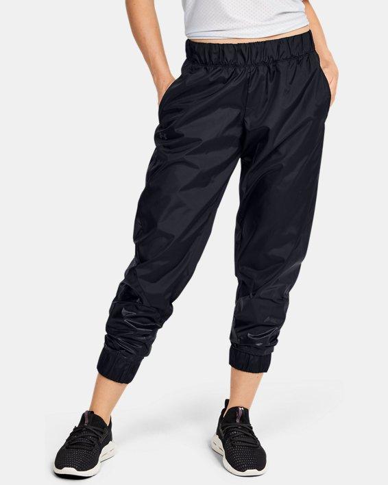 Women's UA Metallic Woven Pants, Black, pdpMainDesktop image number 0