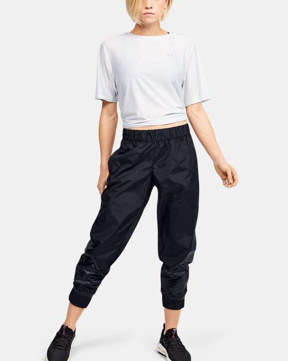 Women's UA Metallic Woven Pants, Black, pdpMainDesktop image number 1