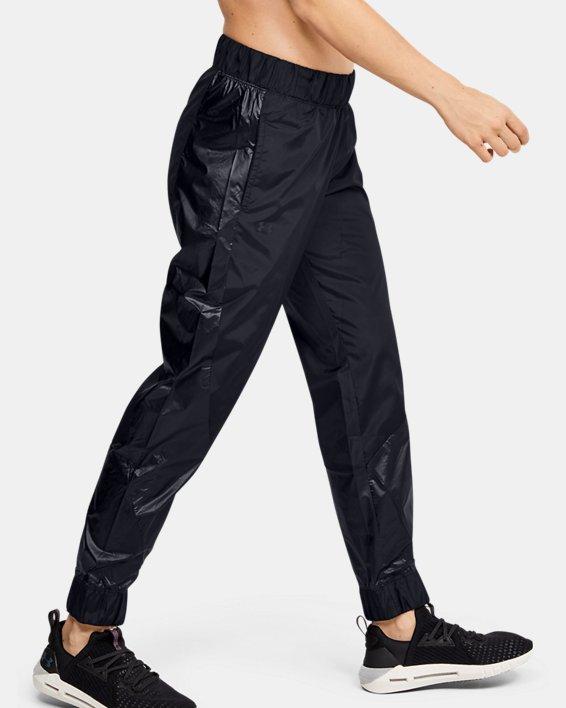 Women's UA Metallic Woven Pants, Black, pdpMainDesktop image number 3