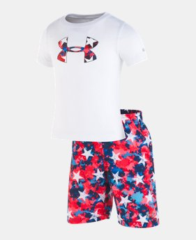 5a95de60ce3e3e New Arrival Boys  Infant UA Americana Volley Set 1 Color Available  36