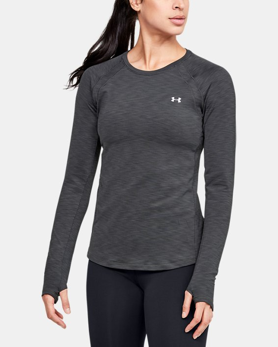 Women's UA Cozy Crew Long Sleeve, Gray, pdpMainDesktop image number 0
