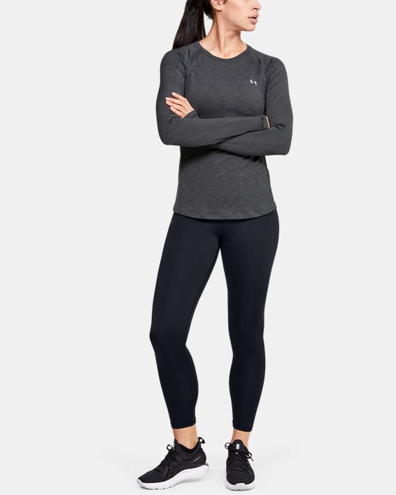 Women's UA Cozy Crew Long Sleeve, Gray, pdpMainDesktop image number 1