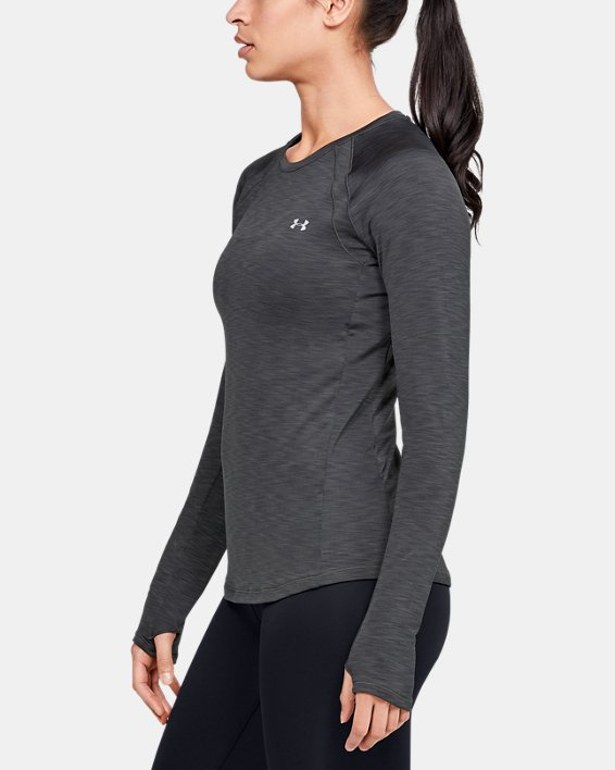 Women's UA Cozy Crew Long Sleeve, Gray, pdpMainDesktop image number 3