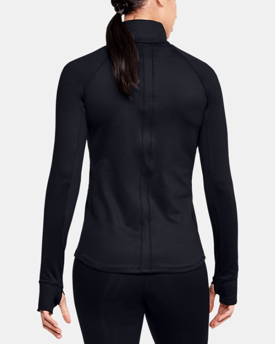 Women's UA Cozy ½ Zip Long Sleeve, Black, pdpMainDesktop image number 2