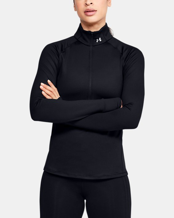 Women's UA Cozy ½ Zip Long Sleeve, Black, pdpMainDesktop image number 0