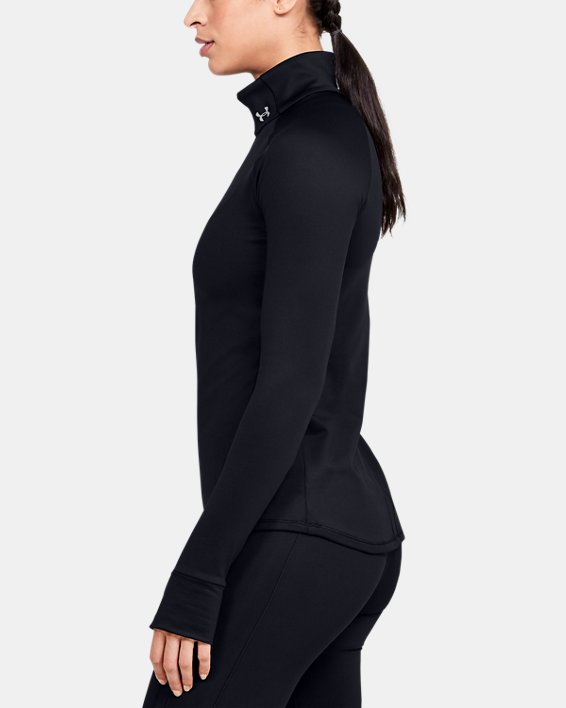 Women's UA Cozy ½ Zip Long Sleeve, Black, pdpMainDesktop image number 3