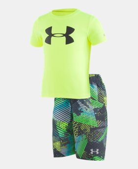82da9694c3510 New Arrival Boys  Pre-School UA Triangle Camo Volley Set 1 Color Available   40