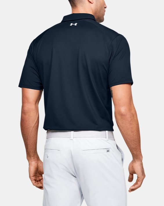 Men's UA Iso-Chill Printed Polo, Navy, pdpMainDesktop image number 2