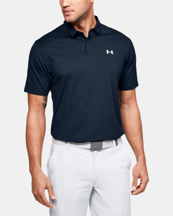 Men's UA Iso-Chill Printed Polo, Navy, pdpMainDesktop image number 0