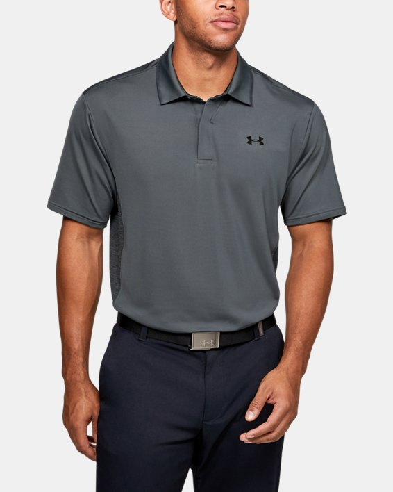 Men's UA Playoff 2.0 Blocked Polo, Gray, pdpMainDesktop image number 0