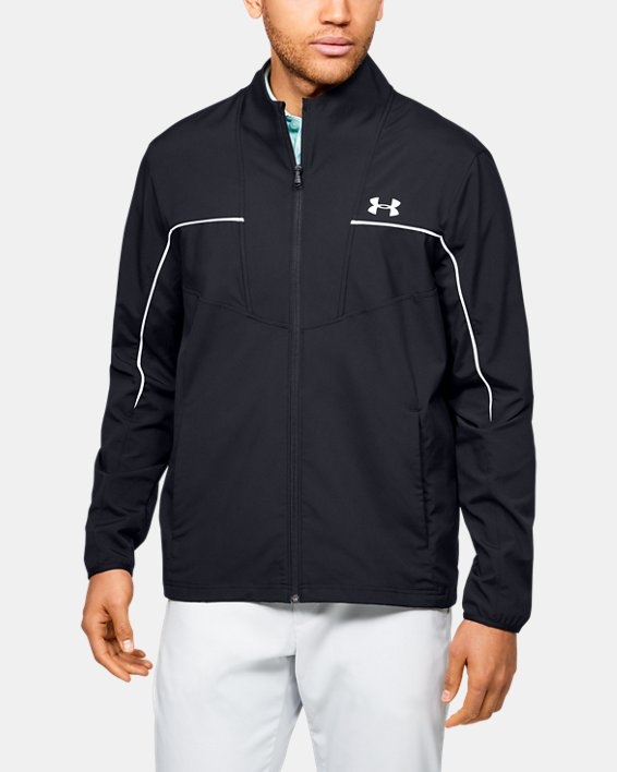 Men's UA Storm Windstrike Full Zip, Black, pdpMainDesktop image number 0