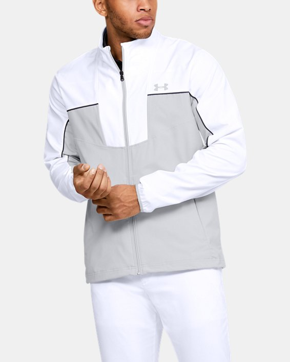 Men's UA Storm Windstrike Full Zip, White, pdpMainDesktop image number 0