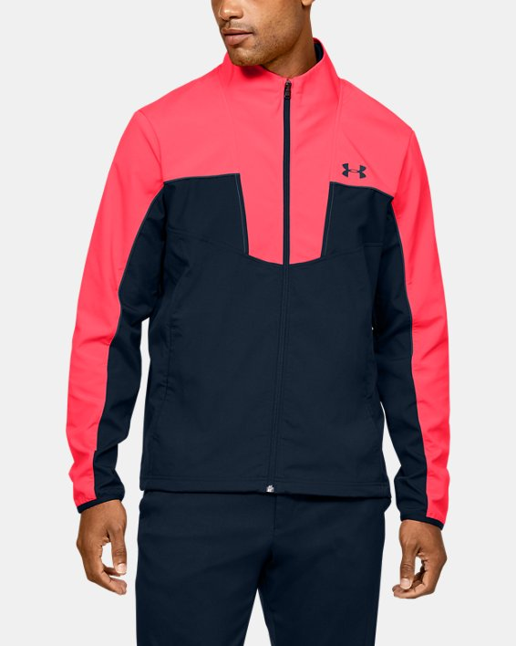 Men's UA Storm Windstrike Full Zip, Red, pdpMainDesktop image number 0
