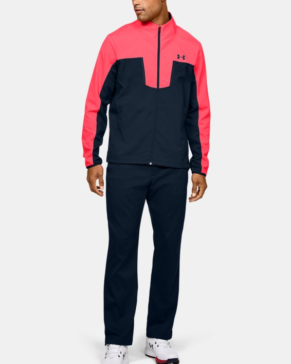 Men's UA Storm Windstrike Full Zip, Red, pdpMainDesktop image number 1