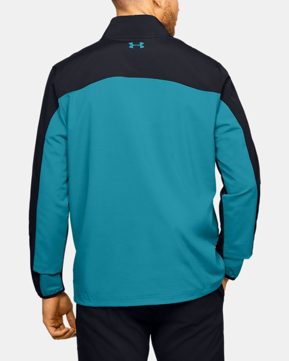 Men's UA Storm Windstrike ½ Zip, Black, pdpMainDesktop image number 2