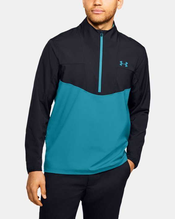 Men's UA Storm Windstrike ½ Zip, Black, pdpMainDesktop image number 0