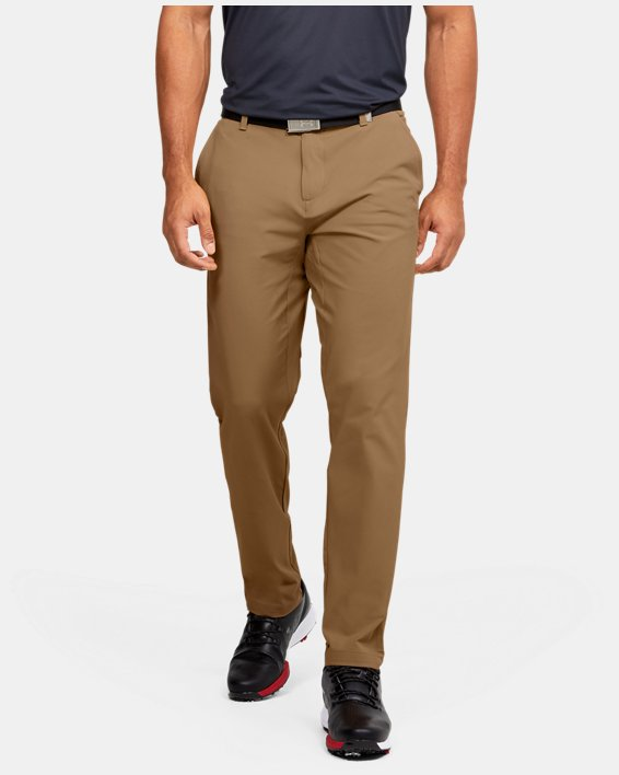 Men's UA Iso-Chill Tapered Pants, Brown, pdpMainDesktop image number 3