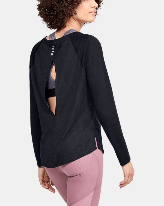 Women's UA Streaker 2.0 Shift Long Sleeve, Black, pdpMainDesktop image number 2