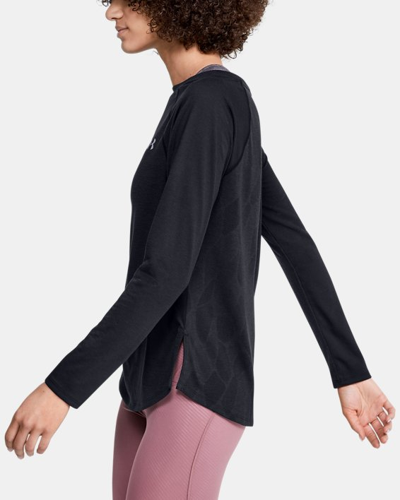Women's UA Streaker 2.0 Shift Long Sleeve, Black, pdpMainDesktop image number 3