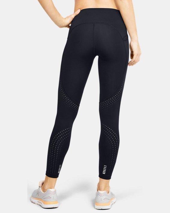 Women's UA Qualifier Speedpocket Perforated Crop, Black, pdpMainDesktop image number 0