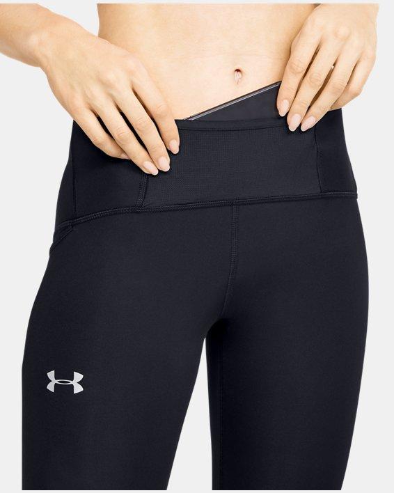 Women's UA Qualifier Speedpocket Perforated Crop, Black, pdpMainDesktop image number 6