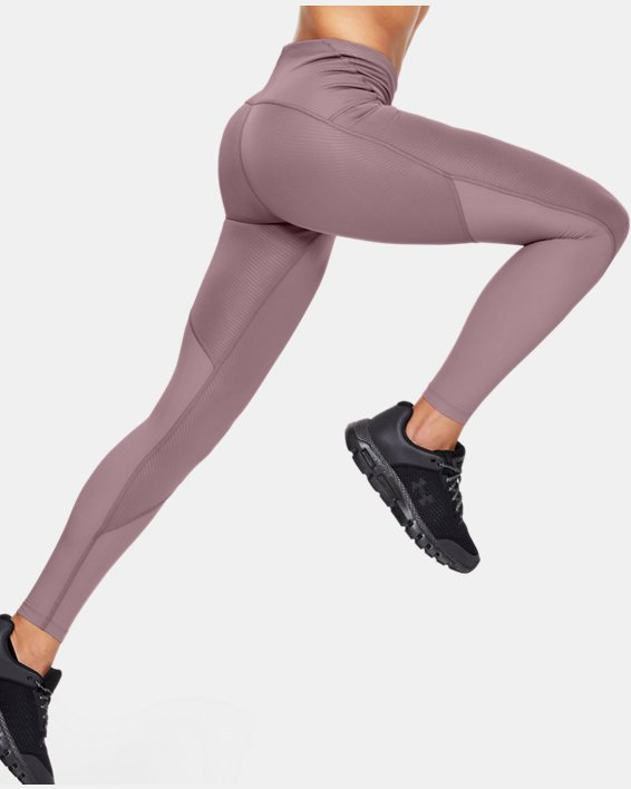 Women's UA Fly Fast Embossed Tights, Pink, pdpMainDesktop image number 3