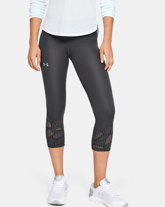 Women's UA Fly Fast Rising Thread Crop, Gray, pdpMainDesktop image number 2