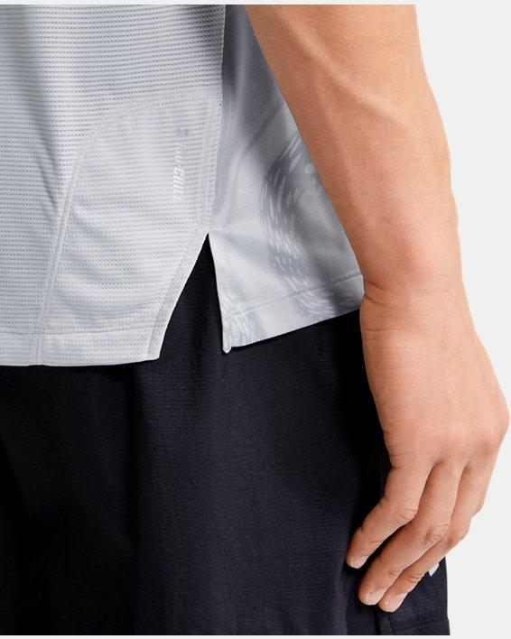 Men's UA Qualifier Iso-Chill Run Weightless Short Sleeve, Gray, pdpMainDesktop image number 5