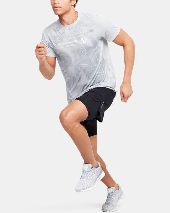 Men's UA Qualifier Iso-Chill Run Weightless Short Sleeve, Gray, pdpMainDesktop image number 1