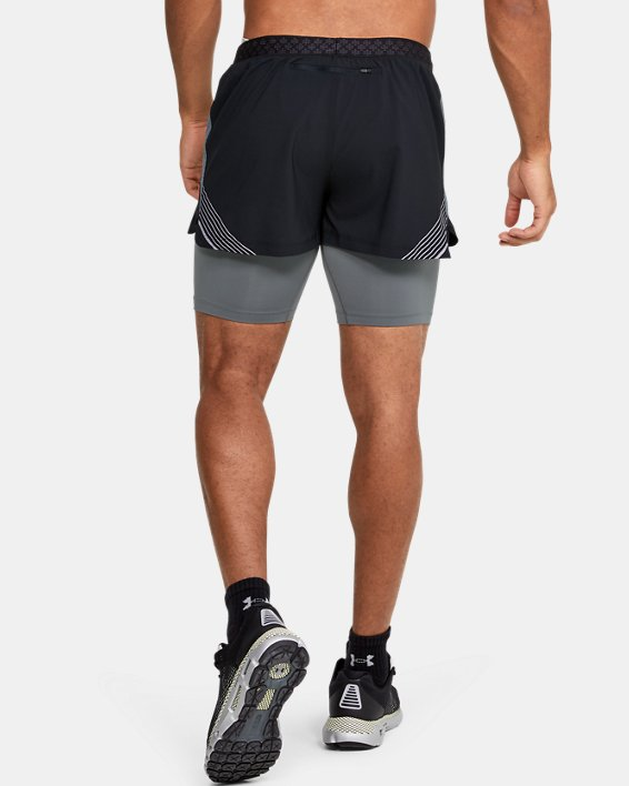 Men's UA RUSH™ Run 2-in-1 Shorts, Black, pdpMainDesktop image number 2