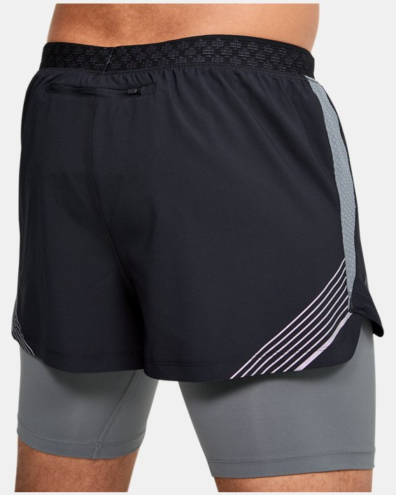 Men's UA RUSH™ Run 2-in-1 Shorts, Black, pdpMainDesktop image number 5