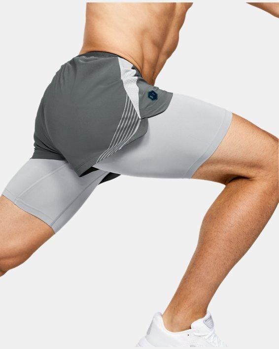 Men's UA RUSH™ Run 2-in-1 Shorts, Gray, pdpMainDesktop image number 6