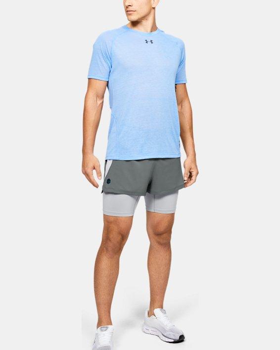 Men's UA RUSH™ Run 2-in-1 Shorts, Gray, pdpMainDesktop image number 0