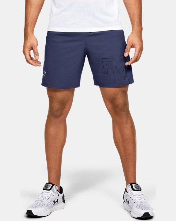 Men's UA Launch SW Branded 7'' Shorts, Blue, pdpMainDesktop image number 0