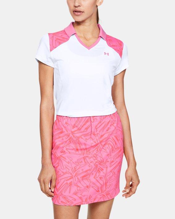 Women's UA Zinger Blocked Polo, White, pdpMainDesktop image number 0