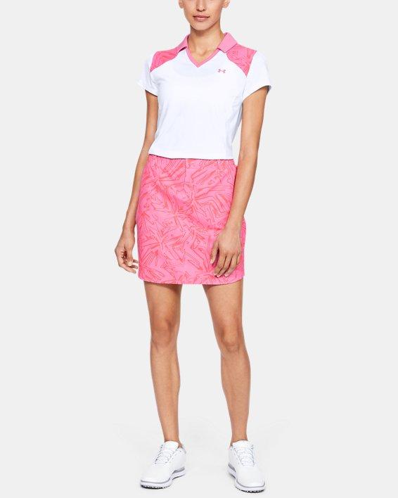 Women's UA Zinger Blocked Polo, White, pdpMainDesktop image number 1