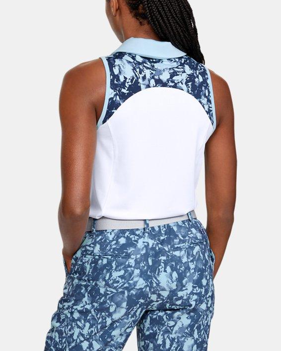 Women's UA Zinger Sleeveless Blocked Polo, White, pdpMainDesktop image number 2