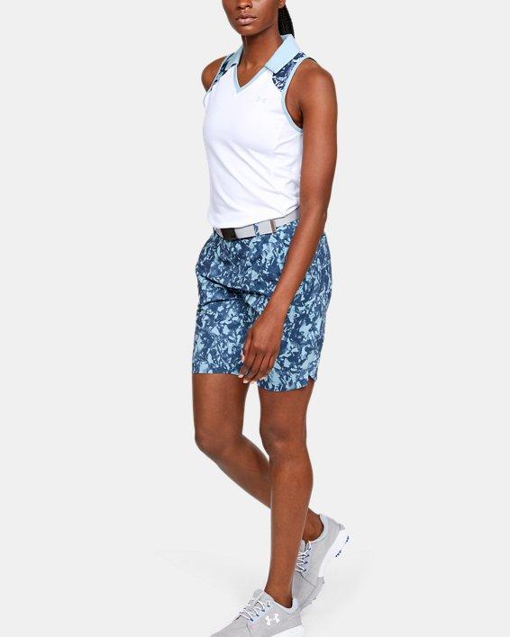 Women's UA Zinger Sleeveless Blocked Polo, White, pdpMainDesktop image number 1