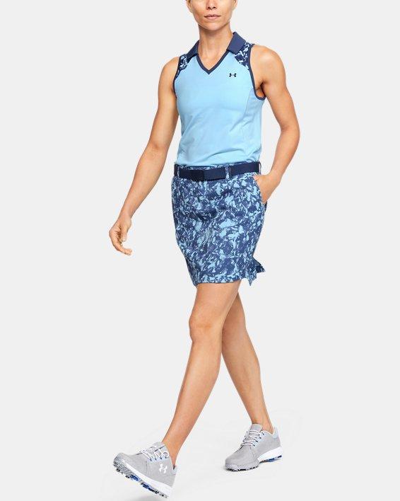Women's UA Zinger Sleeveless Blocked Polo, Blue, pdpMainDesktop image number 1