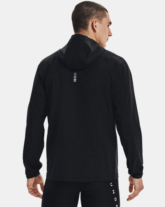 Men's UA Qualifier Outrun The Storm Jacket, Black, pdpMainDesktop image number 2
